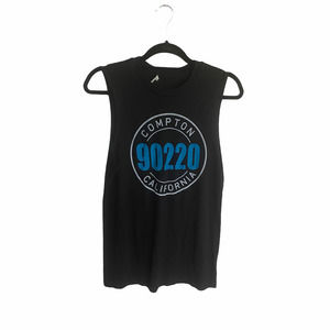 Forever 21 Compton Black Graphic Tank Top Small
